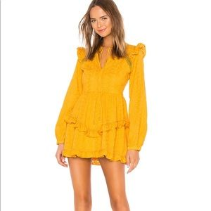 Brand new tularosa mustard mini dress.